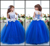 Wholesale graduation cap designs - Princess Ball Gown Pageant Dresses Cheap White Lace Jewel Neck Lace Up back Customize Formla Wear Floor Length Fashion Design Cheap Price