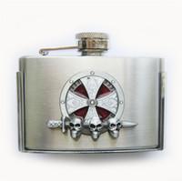 New Enamel Iron Cross Celtic Knot 3oz Stainless Steel Flask Belt Buckle Gurtelschnalle Boucle de ceinture BUCKLE-FL-Celtic