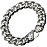pulsera de plata para hombre al por mayor-b188- Pulsera de plata para hombre de acero inoxidable de Stainles CUBAN CURB LINK (13.5mm) 19cm 20cm 21cm 22cm 23cm 24cm de largo