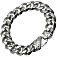 herren silberne bordstein armband groihandel-b188- Silver Tone Stainles s Stahl Herren Armband CUBAN CURB LINK (13,5 mm) 19 cm 20 cm 21 cm 22 cm 23 cm 24 cm Länge