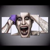 5 pezzi / Set Incorniciato HD Printed Suicide Squadra Film Joke Immagine Wall Art Canvas Stampa Poster Canvas Pittura Olio Cuadros Decoracion