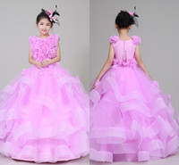 Wholesale Piano Images - High Quality Free Shipping New 2018 Girls Dress Skirt Pink Girl Piano Performance Catwalk Dress Children's Clothing Pompon Skirt Dresses