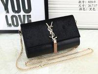 Wholesale Brand S Handbags - 2018 women gg bags famous brand luxury lady Y S L PU leather handbags famous Designer saddle bags purse shoulder tote Bag SHOULDER BAGS