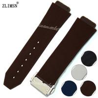 Wholesale Men S Blue Bracelet - Watchbands Sport Black Brown White Blue Silicone Rubber Watch Band Strap Bracelet Sale Band Sweatband Wrist 26mm New Men Women G-S-HUB222