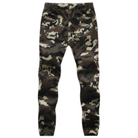 Wholesale Hanging Crotch - Jogger Men Pencil Harem Pants hanging crotch patchwork harem pants mens military Camouflage Pant Overcoat Camo Cargo trousers q4201