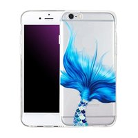 Wholesale Mermaids Tale - Mermaid Tale phone Case Shockproof TPU Silicone Back Protective For iPhone 7 plus 6s 6 plus SE 5s 5 Opp Bag