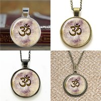Wholesale Wholesale Zen Bracelets - 10pcs Om Namaste Yoga Jewelry Lotus Zen Q1 Pendant Necklace keyring bookmark cufflink earring bracelet