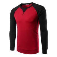 Wholesale mens slim hoodies wholesale - Autumn Winter Man Top Tees Slim Fit T Shirt Men Bottoming O-Neck Shirt Fashion Mens Hoodie Sportwear Hoodies