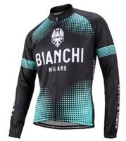 Wholesale Bianchi Cycle Clothes - Bianchi Pro cycling Ropa Ciclismo Quick-dry long sleeve Breathable Cycling jersey cloth MTB Bicycle maillot bike clothing Jacket