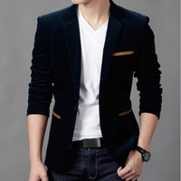 Wholesale Casual Male Blazers - Mens Fashion Blazer British's Style Casual Slim Fit Suit Jacket Male Blazers Men Coat Terno Masculino Plus Size 4XL