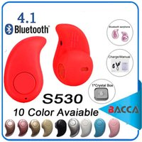 Wholesale Wholesale Small Earphones - Ultra Smallest S530 Mini Wireless Bluetooth V4.0 Earphone Headphones In-Ear Headset With Microphone for iphone8 note8 For All CellPhone