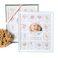 Wholesale Wooden Kids Picture Frames - Baby Growth Record Picture Frame Kid Memorial Wooden Classic Picture Frames For Household Office Desktop Wall Decor