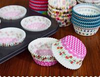 kekler için pişirme kağıdı toptan satış-Mini Yağlı kağıt tutucu Kağıt Kek Pişirme Bardaklar Çörek Kek bardak Pişmiş çikolata cupcakes yüksek sıcaklık pişirme bardak 100 Paket