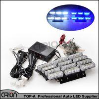 Wholesale Amber Warning Lights 24v - Car High Power 4x9 36 LED Strobe Warning Light 1PC 1W Blue White Led Policeman fireman Caution Lamp Emergency Light