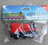 Wholesale Mini Wooden Toy Train - Christmas Gifts Tho mas Mini Trains Wooden Figure Toys 9CM Kids Toys Collection Railway Trains Model Retail Packaging DHL