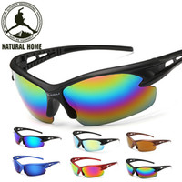 Wholesale- NaturalHome Bicycle Sports Sun Glasses Homme Femme VTT Bike Outdoor Eyewear Cyclisme Goggle Goggle Lunettes de soleil Gafas