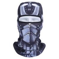 Wholesale 3d balaclava mask online - 3D Outdoor Sports Bicycle Cycling Motorcycle Masks Ski Hood Hat Veil Balaclava UV Full Face Mask