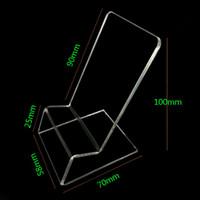 mobiltelefone displayhalter stehen großhandel-klares Acrylhandy Handy Display Ständer Halter stehen für 6 Zoll iphone Samsung HTC Huawei