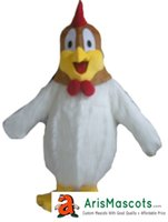 trajes de frango branco venda por atacado-Branco da mascote da pele de Frango personalizado Mascotes Mascotes Esportes Esportes Traje Da Mascote Desuisement Mascotte Empresa de Design de Caracteres ArisMascots