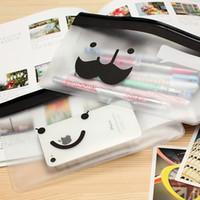 Wholesale X 135 - Wholesale-Free Shipping Cartoon Transparent Pencil Bag, Pen Pouch, Makeup Bag, Stationery Storage, 135 mm x 205 mm