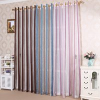 Wholesale Home and Office Insulated Decoration Polyester General Pleat Embroidered Chenille Silver Stripe Jacquard Window Curtain Screens Tulle