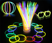 Wholesale Novelty Flashing Wand - Hot 7.8'' Glow Stick Bracelet Necklaces Neon Party LED Flashing Light Stick Wand Novelty Toy LED Vocal Concert LED Flash Sticks JC183