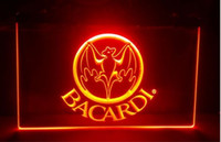 Wholesale Banners Lighted - b-230 Bacardi Banner Flag beer bar pub club 3d signs led neon light sign home decor crafts