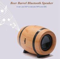 Wholesale Plastic Mini Buckets - Mini Portable Wireless Bluetooth Speaker Beer Bucket Design Super Bass Stereo HiFi Speaker Support Micro SD TF For Phone