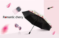 Wholesale Vinyl Tube - 2017 2 color praduct Creative roses not automatic folding the vinyl umbrella uv sunscreen female thirty percent of sunny or rainy