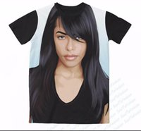 Wholesale sublimation shirt printing - Newest Fashion Womens mens Aaliyah Funny 3D Sublimation Print Casual T-shirt XTX04