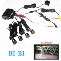 Wholesale Distance Alarm System - Dual Core CPU Car Video Parking Sensor Reverse Backup Radar Alarm System Show distance on Display automobile Sensor Auto System