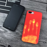 Wholesale Color Cell Phones Cases - sell 1 newest thermal cell phone Iphone7 heat sensitive color changing mobile phone shell new iphone 6 leather protective cover