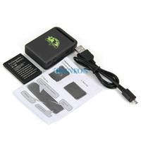 mini gsm china al por mayor-DHL 20PCS Mini vehículo GSM GPRS GPS Tracker o vehículo de rastreo localizador de dispositivos TK102B Nueva llegada