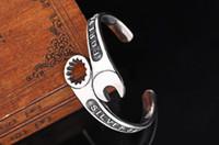 brazalete de platino para hombres al por mayor-Llave de la moda brazalete de la motocicleta Biker Bangle para hombre Charm Bangle Bracelet Cool acero inoxidable 316L joyería de platino Punk envío gratis