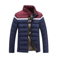 Wholesale Mens Quilts - Wholesale- 2016 hot sale mens parkas cotton padded coat down jacket quilt outerwear plus size Mens Clothing XXXXL Down Jacket Coat
