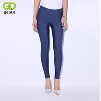 Wholesale High Waist Pans - Wholesale- GOPLUS 2017 Solid Candy Color Neon Legging for Women High Waist Stretched Leggings Elastic Clothing Plus Size Ankle Length Pan