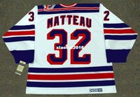 Wholesale 1994 New York Rangers - Cheap custom retro STEPHANE MATTEAU New York Rangers 1994 CCM Vintage Home Jerseys Throwback Mens stitched Hockey Jersey