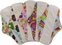 Wholesale Sanitary Cloth Pads - OhBabyKa Sanitary Pads S M L Bamboo Inner Washable Reusable Feminine Hygiene Menstrual Pads Sanitary Pads Lady Cloth Pad