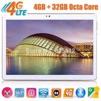 Wholesale- Google Play Store Android 6.0 OS Tablette 10 pouces 4G FDD LTE Octa Core 4 Go RAM 64 Go ROM 1920 * 1200 IPS Kids Gift Tablets 10 10.1