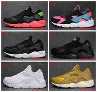 Wholesale Rainbow Shoes Sale - Hot Sale Huarache Running Shoes Huaraches Rainbow Ultra Breathe Shoes Men & Women Huaraches Multicolor Sneakers Air Size 36-46 Free Shipping