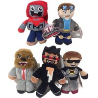 Wholesale red tube game - Minecraft Steve Tube Heroes Plush Tube Heroes Dan TDM Captain Sparklez Sky Exploding Jeromeasf Stuffed Toys 18-23cm