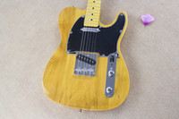 6 Strings black tele - Custom Shop American Deluxe Yellow Telecaster Vintage Maple Neck Tuners Tele Electric Guitar Butterscotch Blonde Black Pickguard