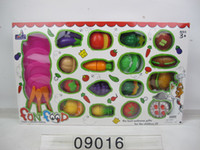 Plastic Kitchen Cutting Fruits Toys For Kids Colorful Building Blocks Toy  Plastic Block Puzzle Games Educational Assembling Toysi