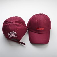 Wholesale snapback for sale - DAMN Baseball Cap Duck Tongue Hat Red Color Outdoor Leisure Visor Hat Dad Hats Trucker Bone Kendrick Lamar Snapback