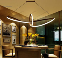 Wholesale Touch Aluminium Lamp - 2017 NEW Remoter Dimming Modern Led Pendant Light Led Pendant Lamp Aluminium 90-265V Suspension Lamp for Dinning Room MYY