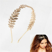 Wholesale Head Bands For Women - Fashion Roman Goddess Leaf Headband Hair Accessories for Women Wedding Branch Dainty Bridal Hair Jewelry Crown Head Dress Boho Alice Band
