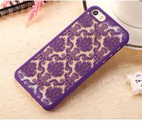Wholesale Blue Floral Iphone Cases - Wholesale Sexy Lace Floral Paisley Flower Mandala Henna Clear Case For iphone 7 6 Plus 6Plus Phone Cases Fashion Cartoon Capa Back Cover