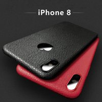 Wholesale Iphone Case Hot Selling - For Iphone 8 Phone Case New Hot Selling TPU luxury Striae Imitation Leather Phone Cover Mobile Cellphone Case For Iphone8