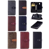 Wholesale Snake Skin Case Wallet - Crocodile Snake Leather Wallet Case For Galaxy (J7 J3 J5)2017 European J730 J530 J330 Stand Holder Luxury TPU ID Card Slot Flip Skin Cover