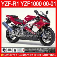 98 r1 verkleidungen rot großhandel-Karosserie für YAMAHA YZF1000 YZF 1000 YZFR1 00 01 98 99 74NO31 Werkseitig rot R 1 YZF-R1000 Karosserie YZF-R1 YZF R1 2000 2001 1999 1999 Verkleidungskit